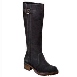 Merona Black Suede Knee High Boots